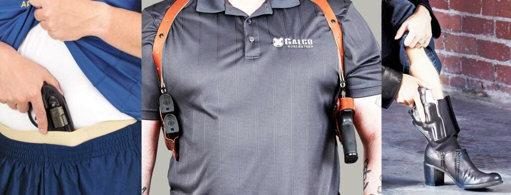 three options for concealed carry holsters