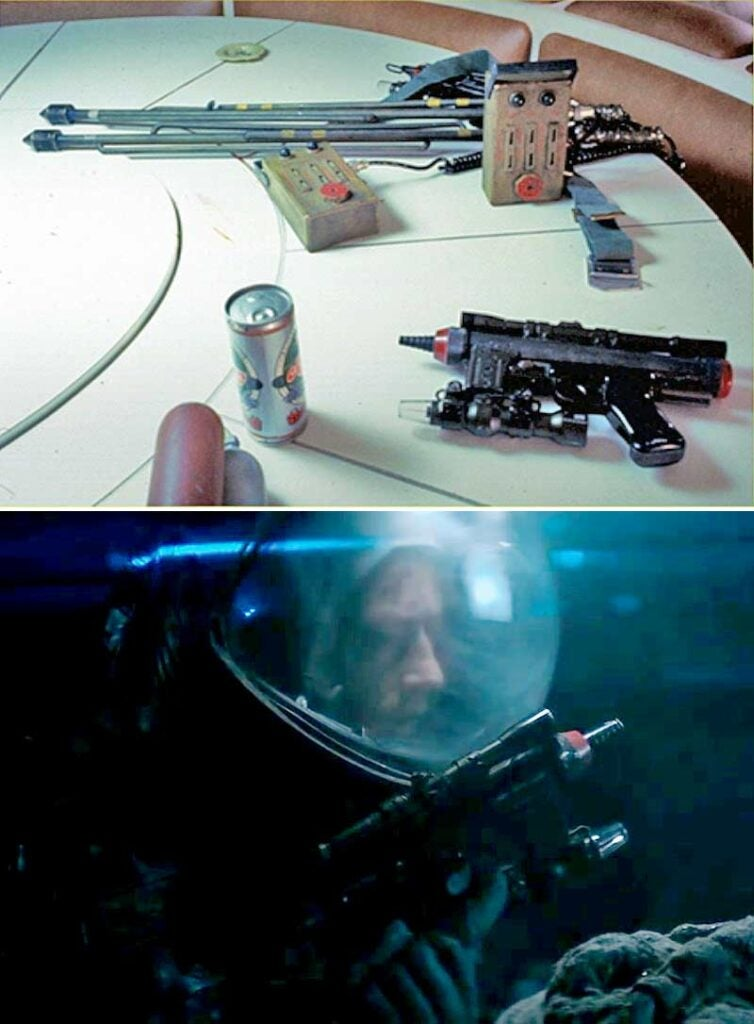 laser pistols in the aliens movies