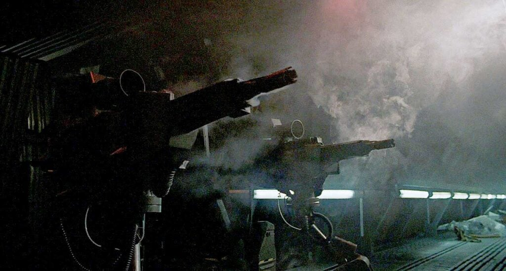 sentry guns in the aliens movies
