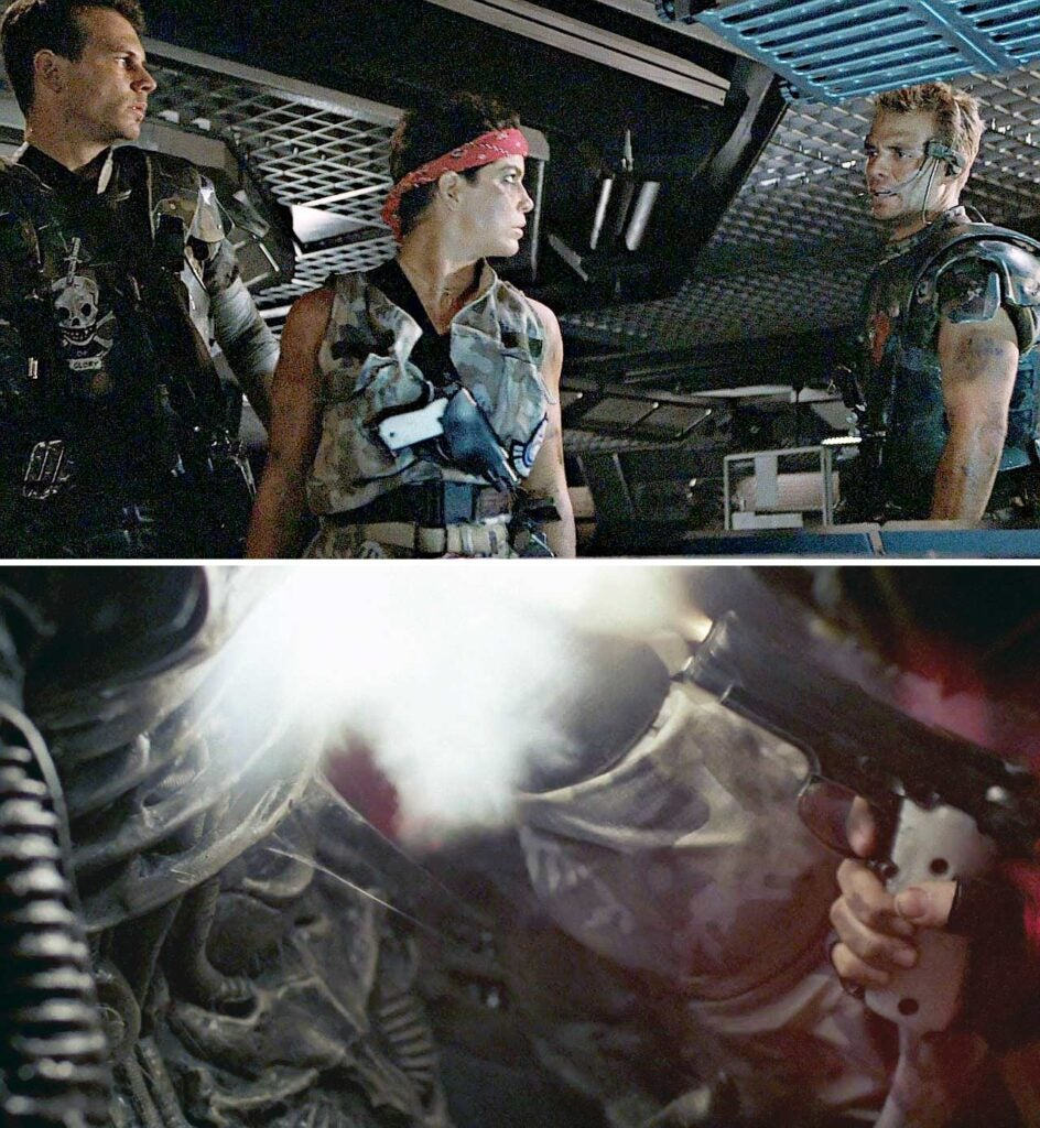 vasquez and other characters in the aliens movies