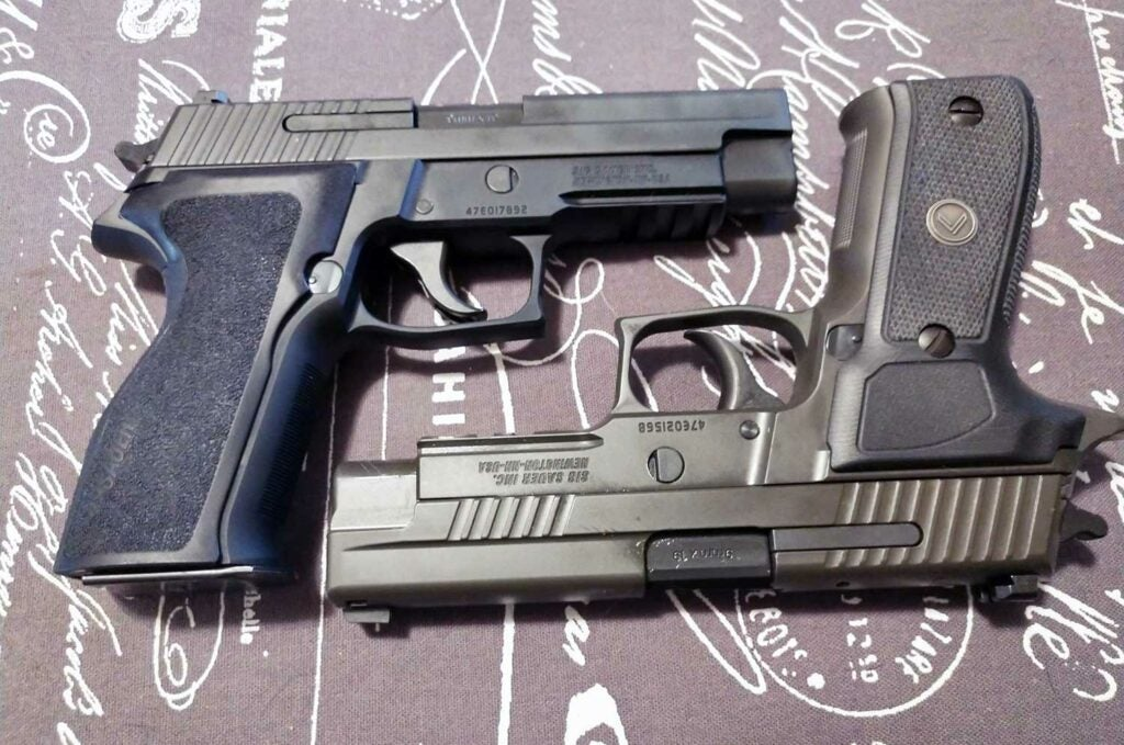 the sig sauer p226 nitron and legion