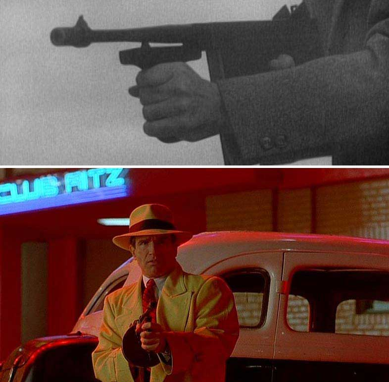 tommy guns in various movies