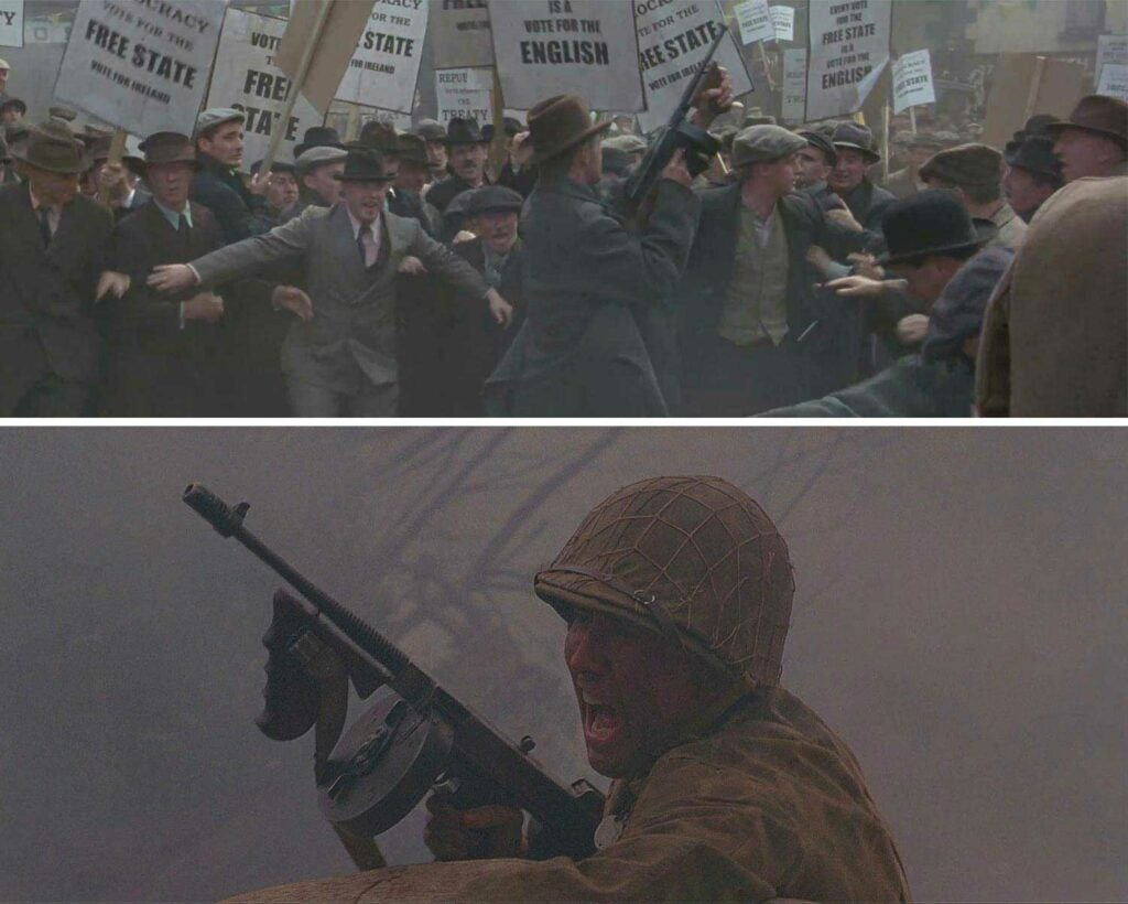 tommy guns featured in michael collins movie and windtalkers