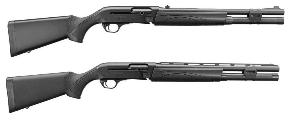 two sight options for the remington v3 tactical shotgun