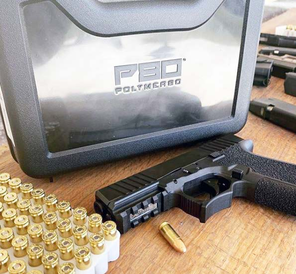 polymer pistol and ammo