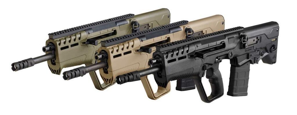 the IWI tavor 7 in three colors