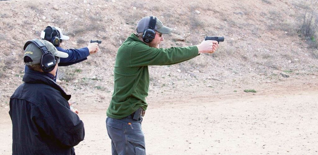 conceal carry weapon training at a shooting range