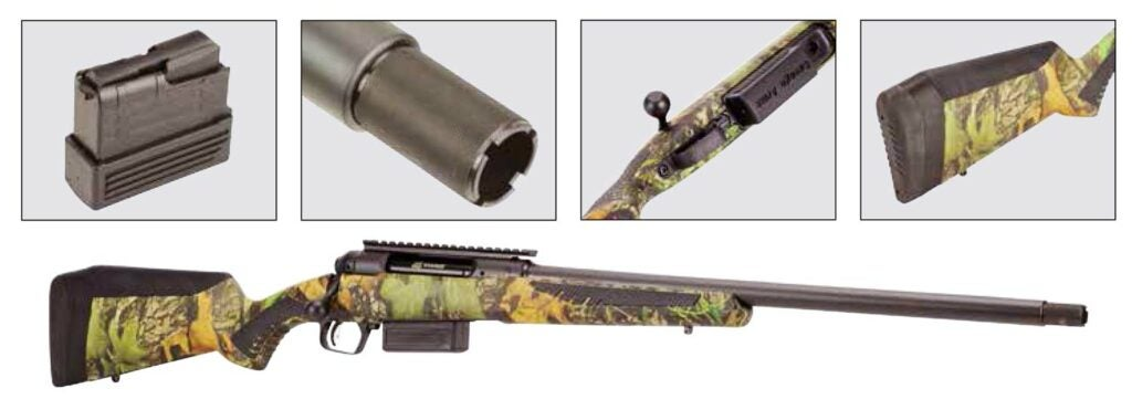 savage arms long range rifle with timber strata stock