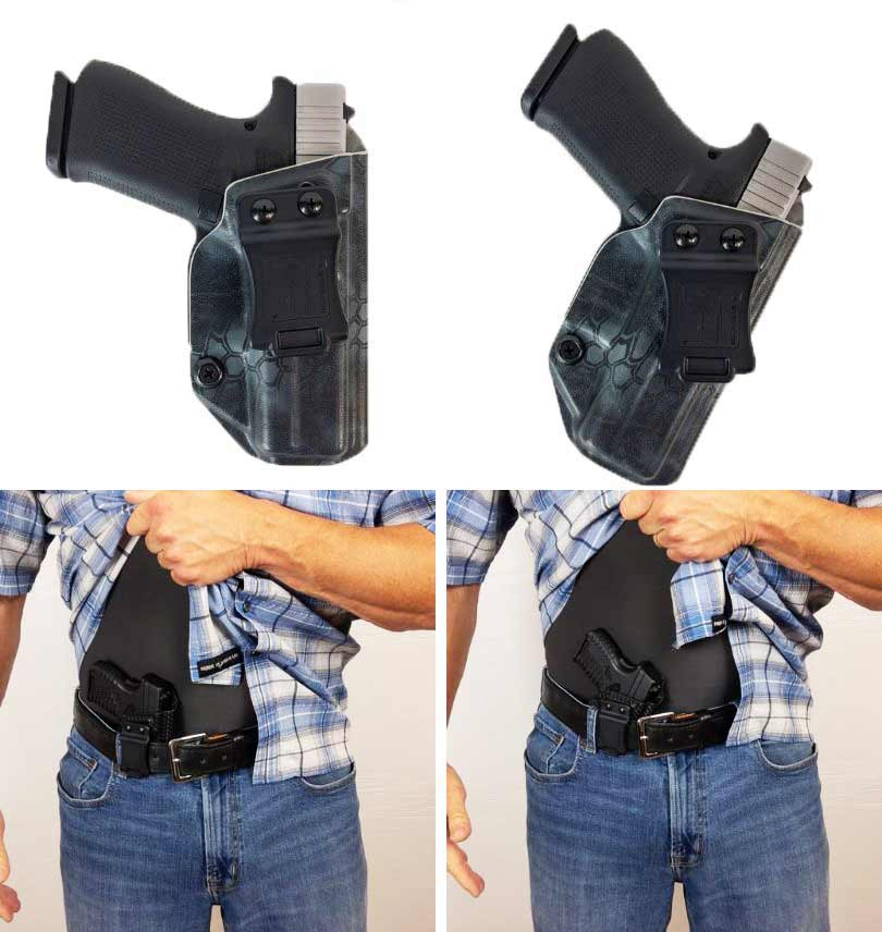 collage of concealed carry holsters