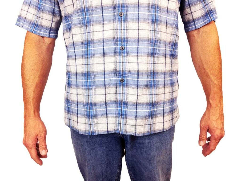 a shirt demonstrating concealed carry tips