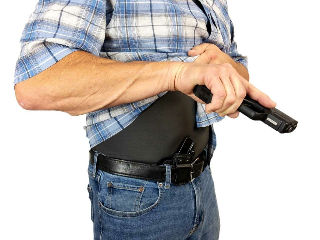 displaying appendix carrying holsters