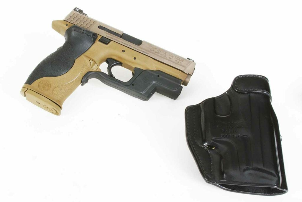 smith and wesson mp40 crimson trace laser light