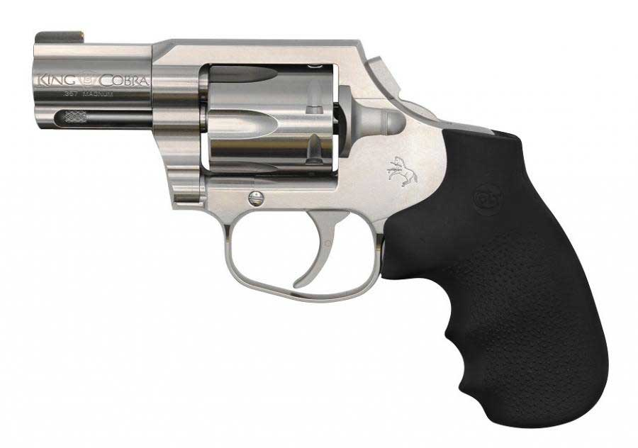 side view of a colt revolver