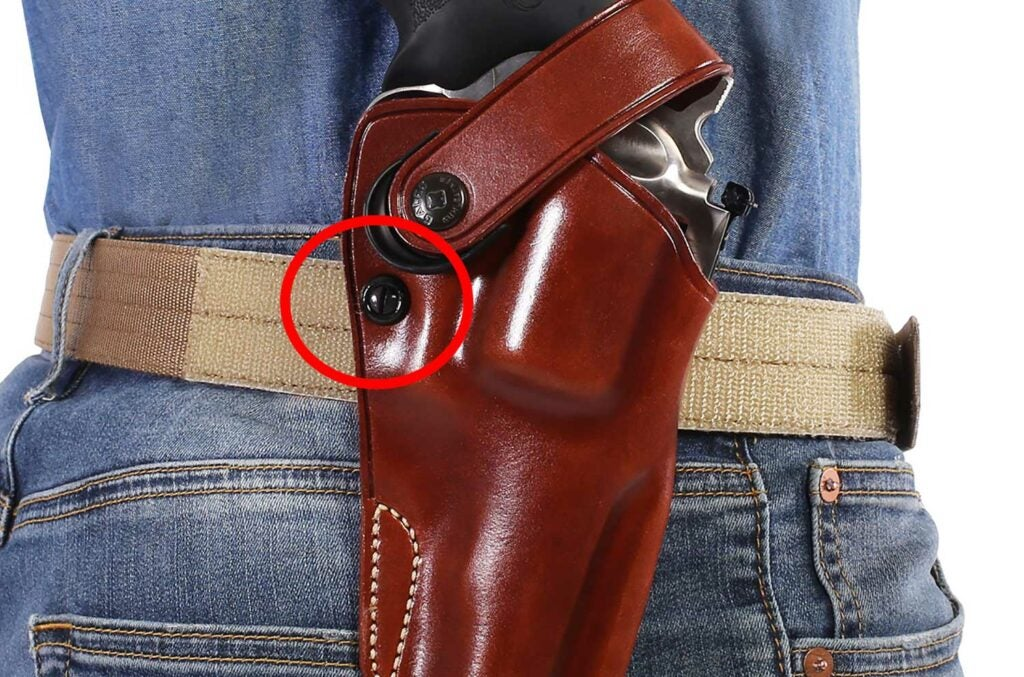 tension screw on a holster