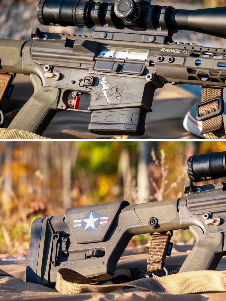 side views of a custom cerakoted rifle