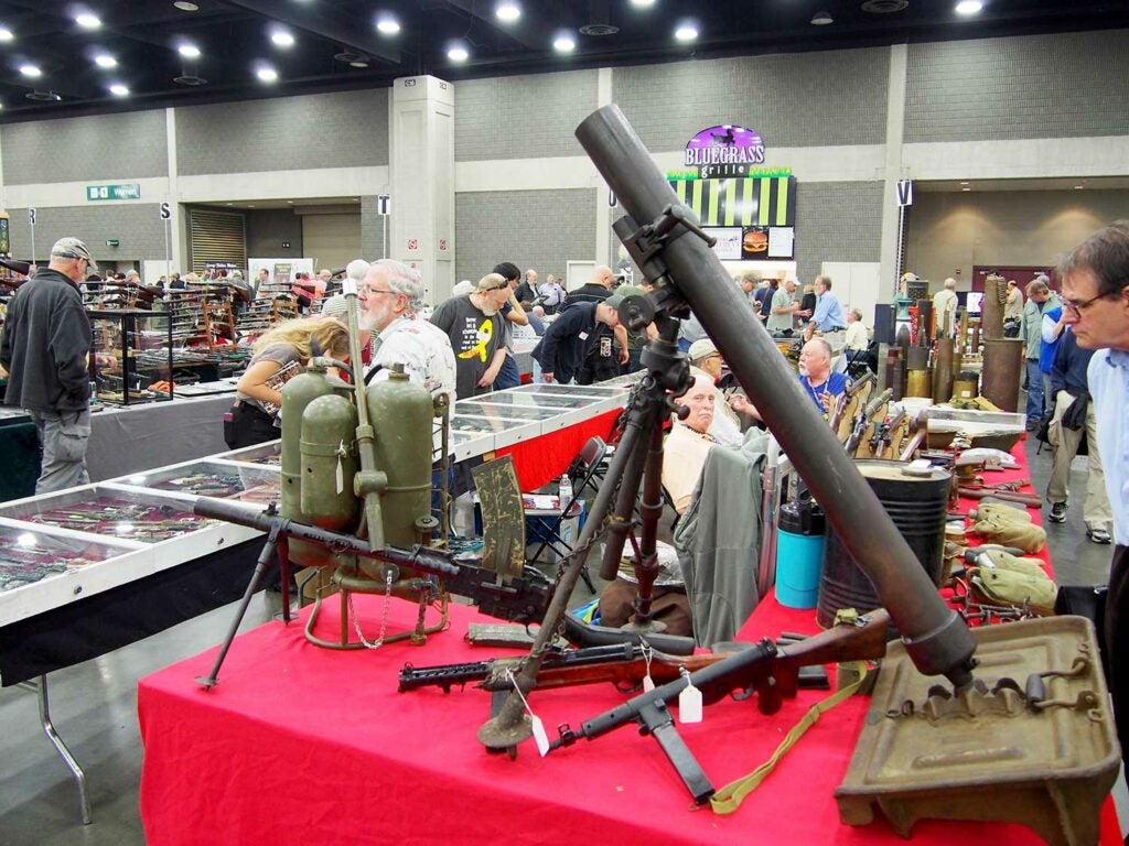 mortars on display at show of shows.