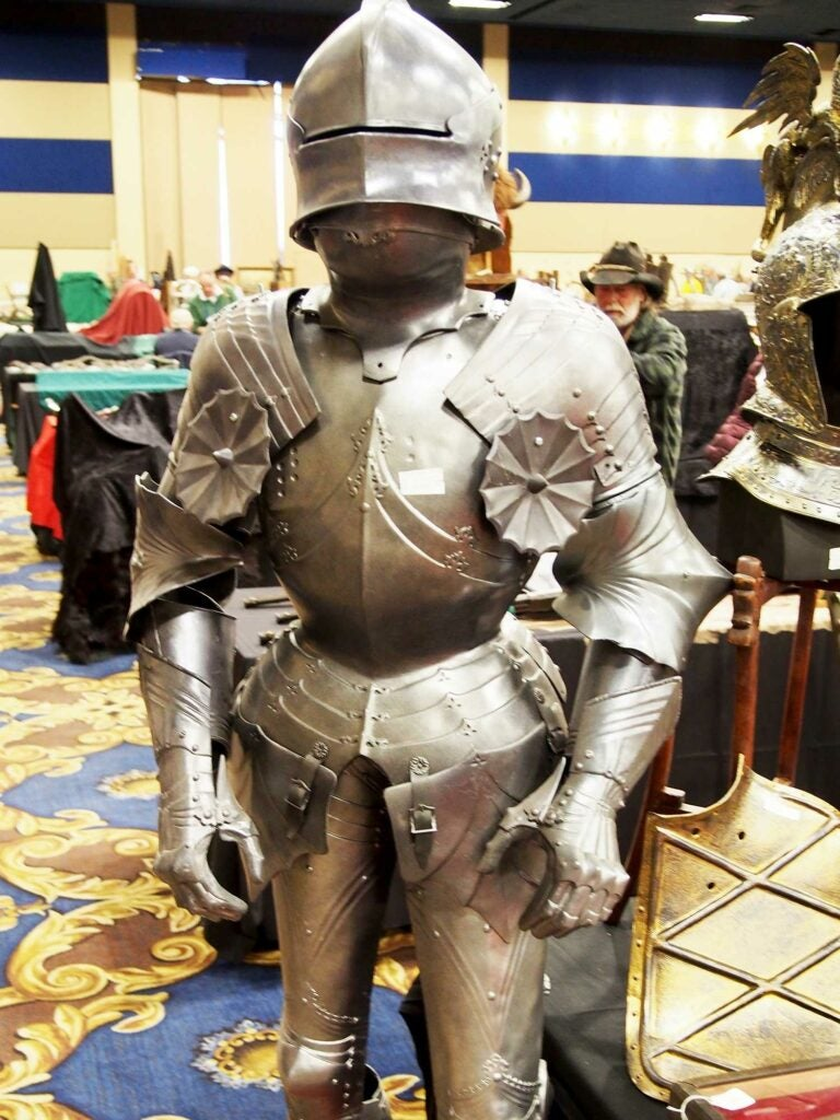 suit of armor on display at Las Vegas Antique Arms Show