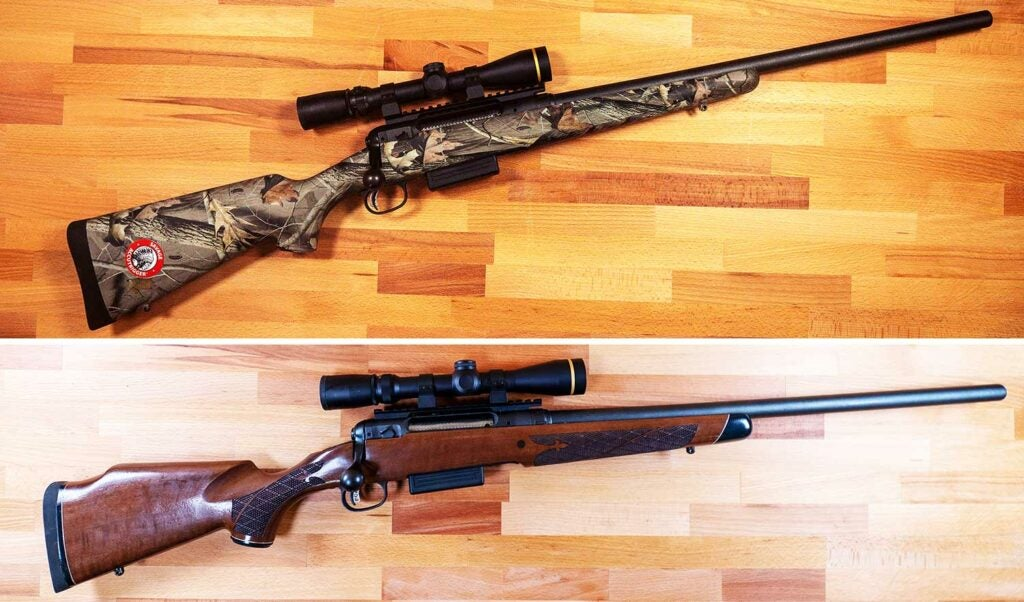 before and after image of a hunting rifle