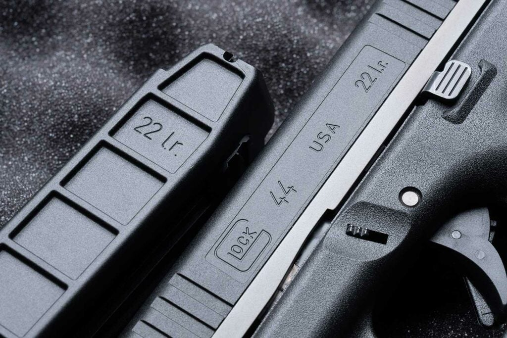 close up details of the glock 44 in .22 lr