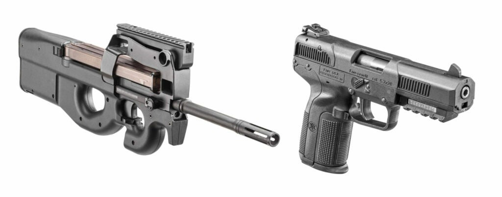 FN P90 and FN Five-seveN pistol
