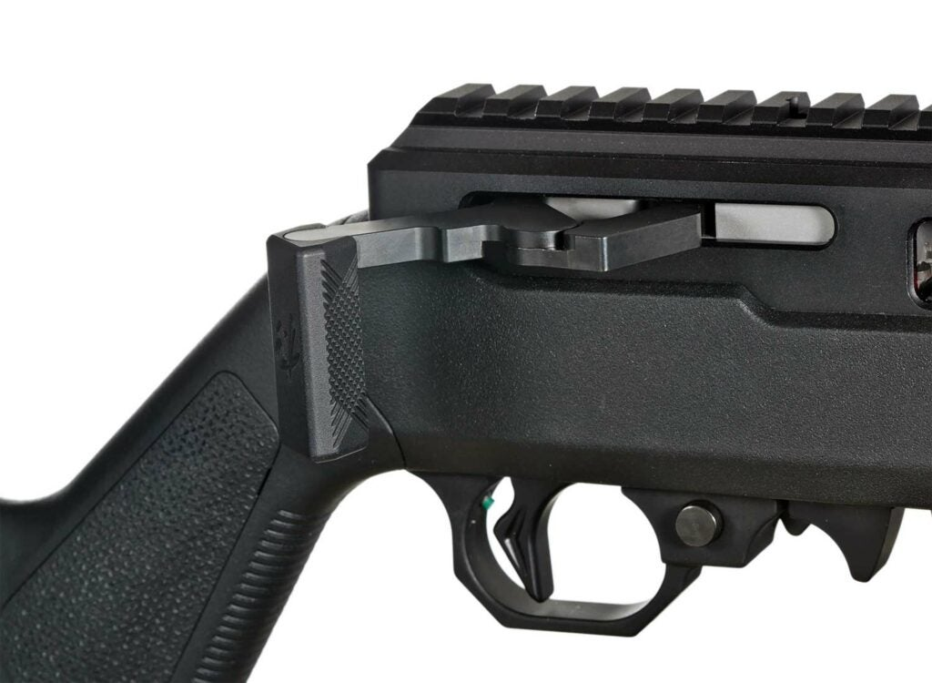The toggle bolt is the mechanism that allows the Summit to be a straight pull rifle.