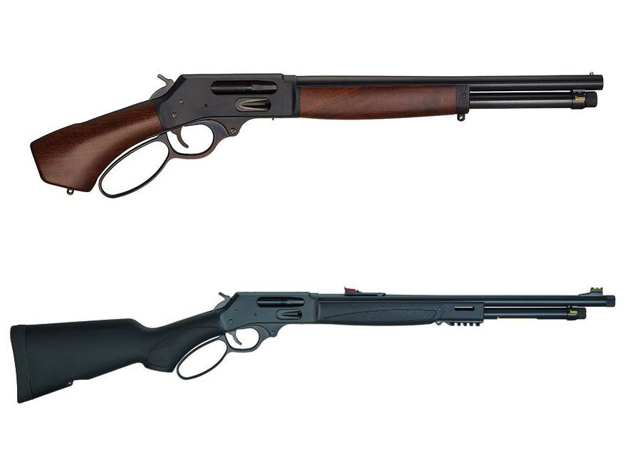 The Henry Axe in .410 and the new Henry X Model lever-action shotgun.