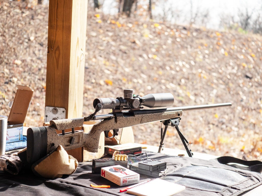 The author's Bergara B-14 HMR in 6mm Creedmoor topped with a Tract Toric UHD scope, shooting Hornady 108 gr ELD Match.