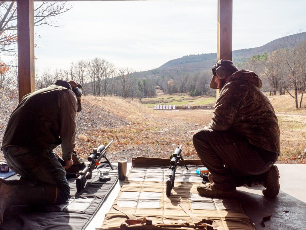 Make ready. The author and his shooting partner Justin Potter on the line at Sheepdog Warrior's Basic Long Range Course in Catskill, New York.