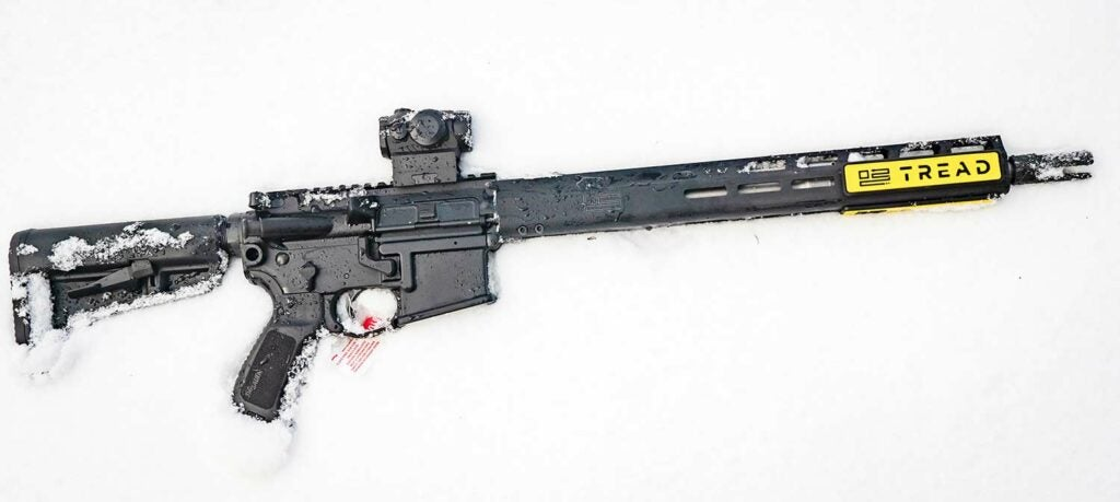 A brand-new SIG M400 TREAD with a ROMEO5 optic