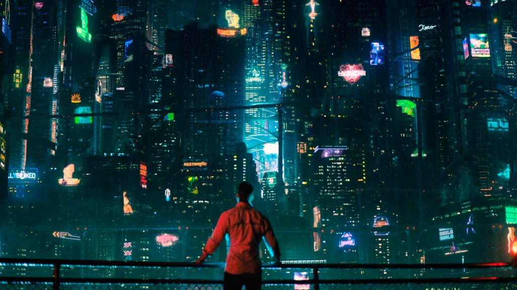 In the Altered Carbon universe, people don't physically travel to different planets. Instead, they simply send their consciousness.