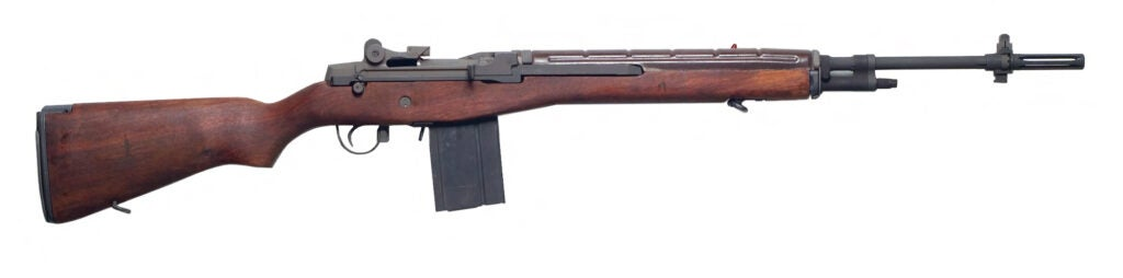 An example of a standard issue M14 rifle.