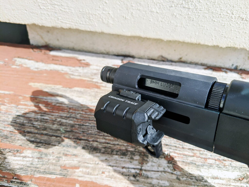 Crimson Trace CMR-204 laser light combo on Ruger PC Charger
