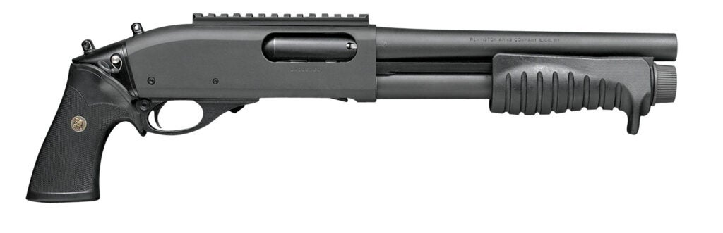 The Remington 870 Breacher with pistol grip only.