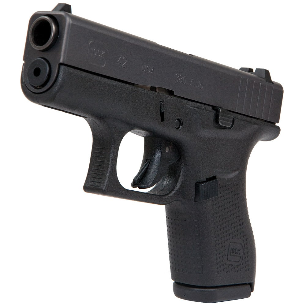 The Glock 42 pistol in .380 Auto.