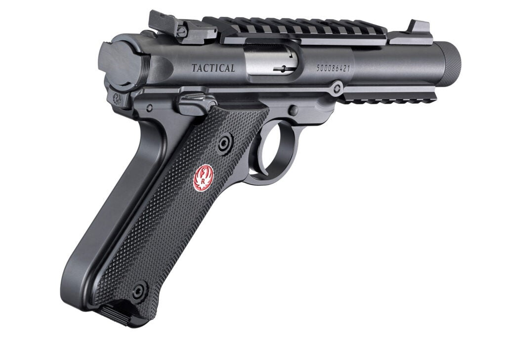 The Ruger Mark IV Tactical .22LR pistol.