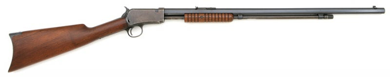 The Winchester Model 1890 slide action rifle.