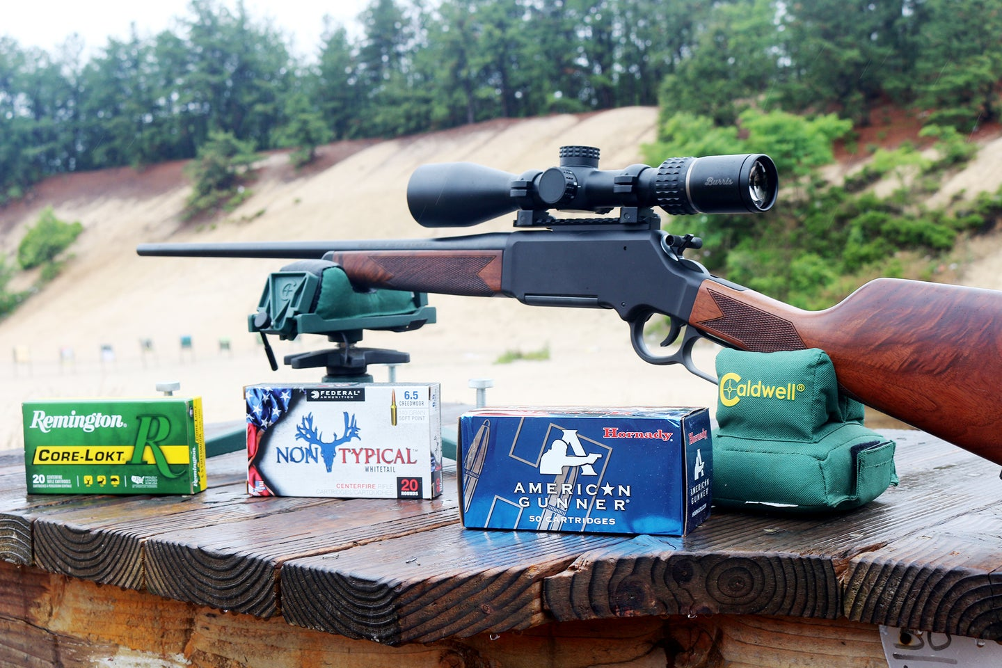 The Henry Long Ranger with various 6.5 Creedmoor ammunition