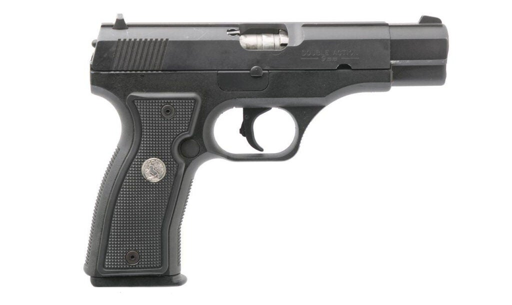 The failed Colt All American 2000 pistol was Stoner's only handgun design.