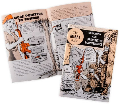 The Army distributed a comic-book style manual for the M16A1 rifle.