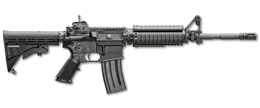 An M4A1 carbine made by FN.