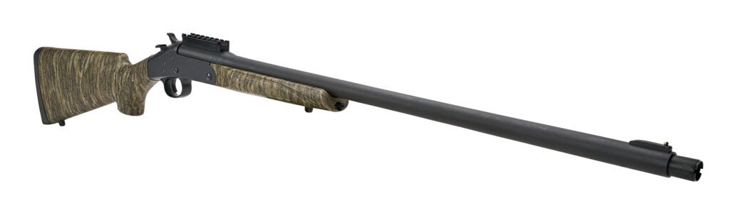 The new Stevens 301 Turkey shotgun from Savage Arms in Bottomlands camo. It is available in .410 bore as well as 12- and 20-gauge models.