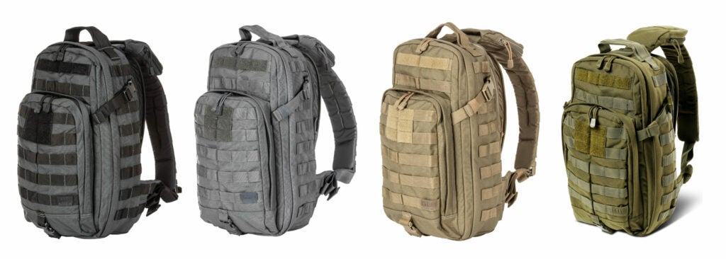 The 5.11 Rush MOAB 10 sling pack comes in a variety of colors.
