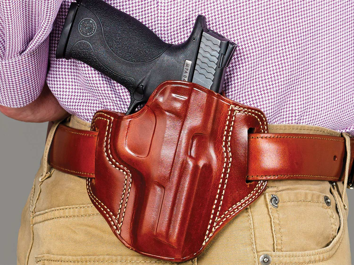 Galco Combat Master waistband leather holster.