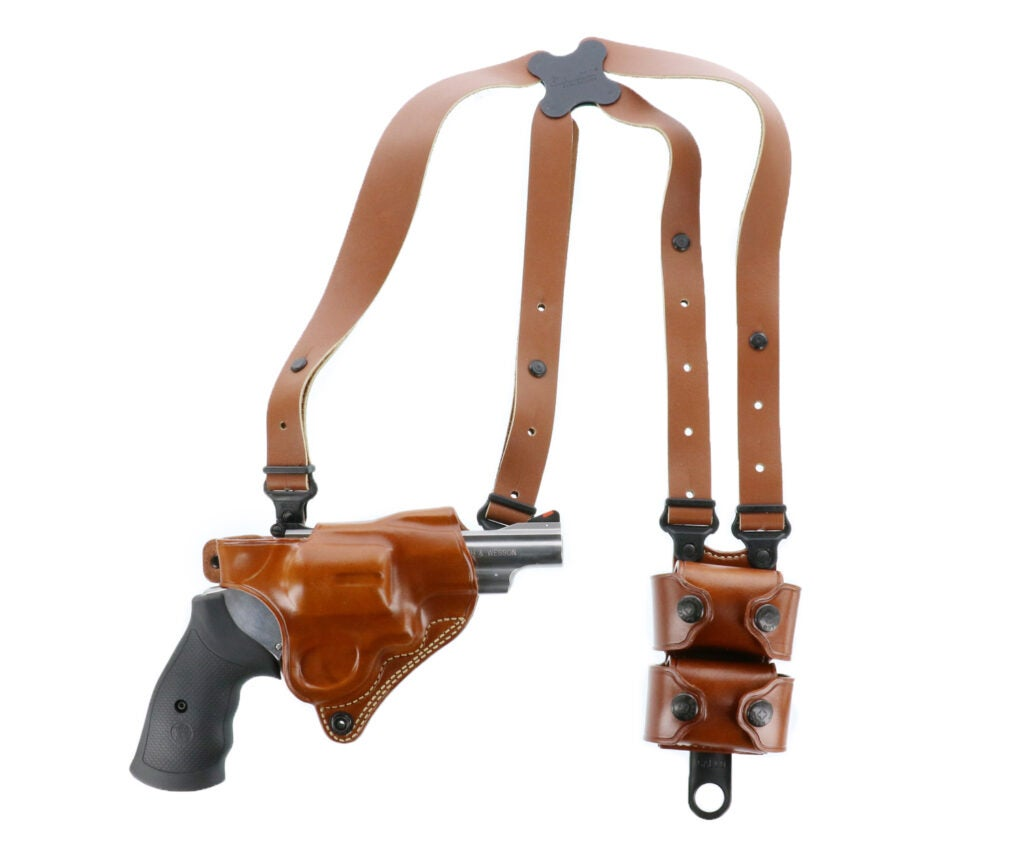The Galco Miami Classic II shoulder rig is now available with revolver holster options.