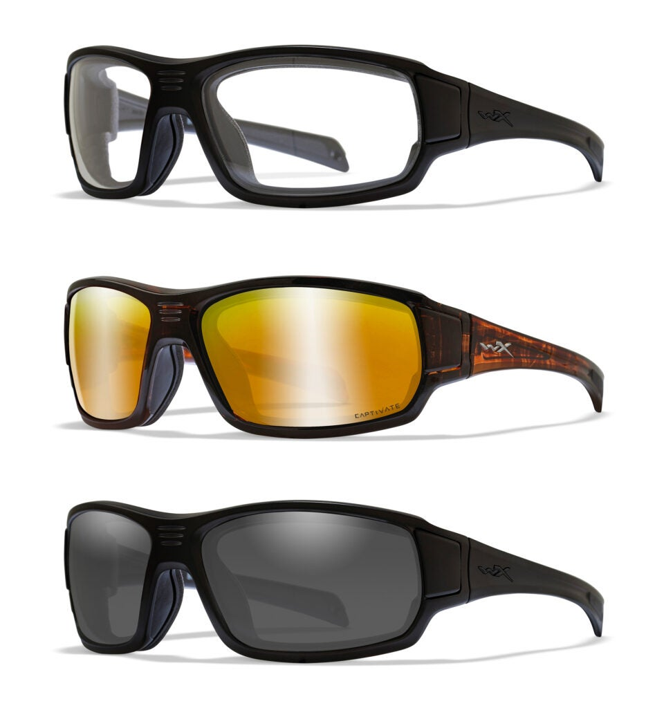 The WX Breach are also available with clear lenses with matte black frames, Captivate Polarized Bronze mirror lenses and matte brown frames, and grey lenses with matte black frames.
