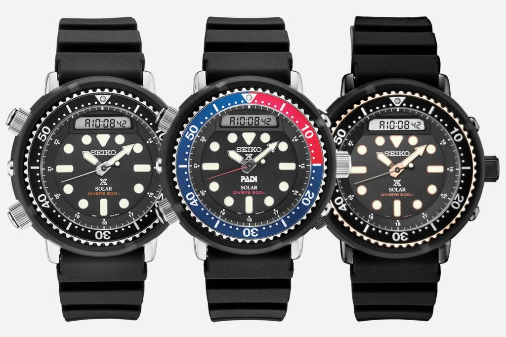 Seiko reissued its 1982 Hybrid Diver watch, better known as the